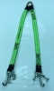 "36"" Hi-VIZ Green DIAMOND WEAVE Towing V-Bridle Strap with RTJ Cluster Hooks"