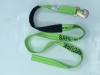 "2"" x 8' Hi-VIZ Green DIAMOND WEAVE Wheel Lift Strap with Flat Snap Hook and 18"" Cordura Sleeve"