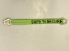 "2"" x 24"" Hi-VIZ Green DIAMOND WEAVE 3-Ply Axle Strap with Triangle Hole Hardware"
