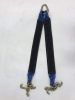 "36"" Blue / Black Towing V-Bridle Strap with RTJ Cluster Hooks"